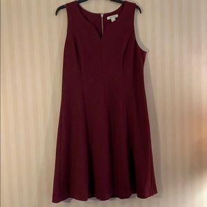 WHBM maroon swing dress